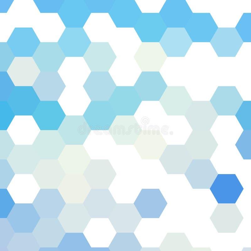 Hexágonos consistindo do fundo colorido simples Ilustração do vetor Eps 10 ilustração royalty free