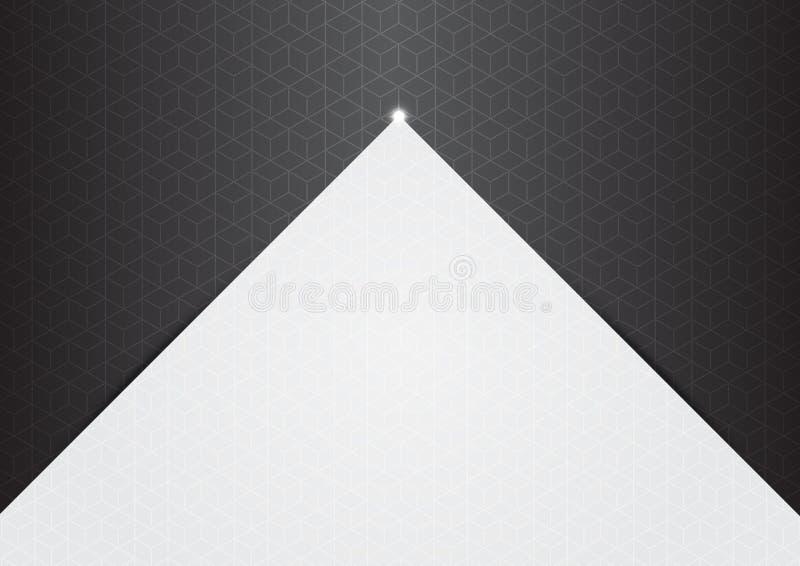 Hexágonos del fondo del polígono a medias grises stock de ilustración
