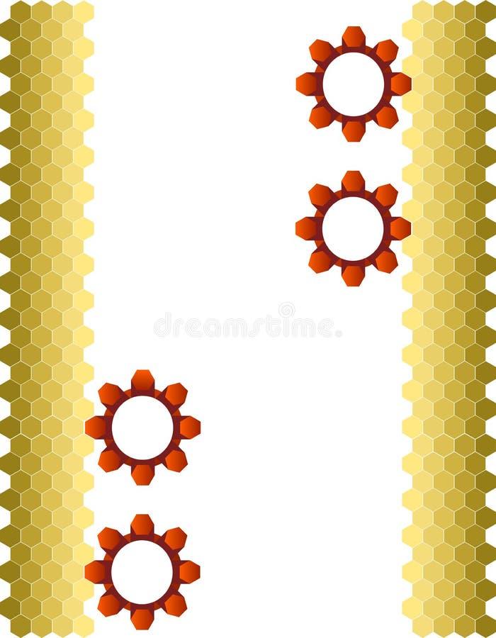 Hexágonos y engranajes 2 foto de archivo libre de regalías