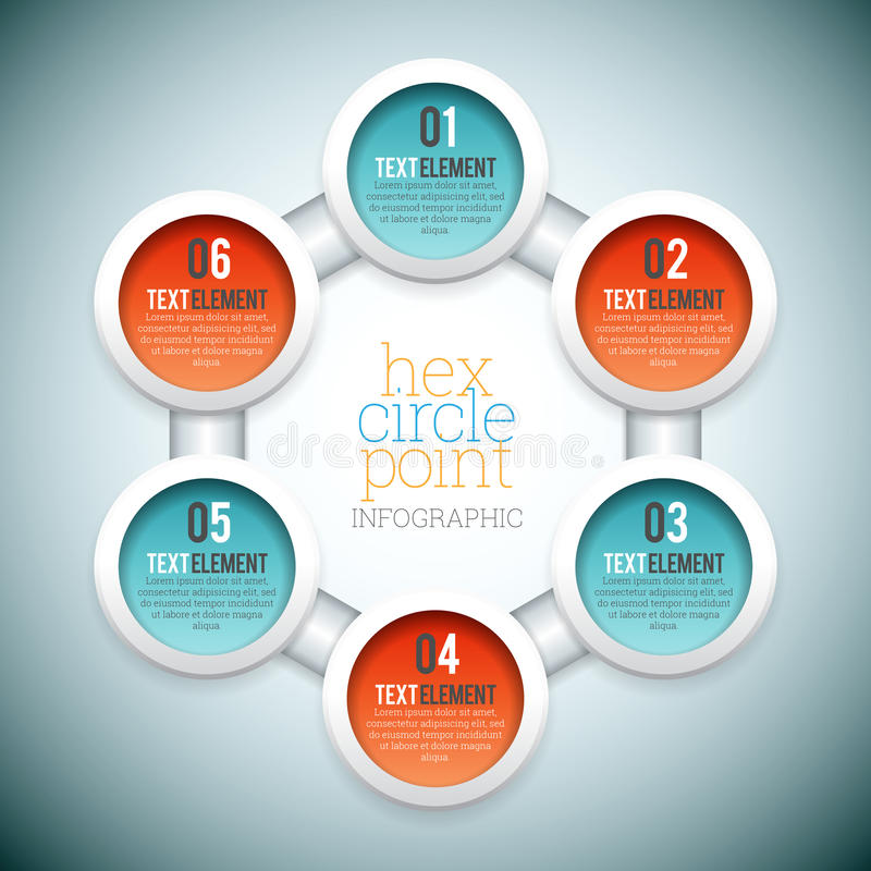 Free Hex Circle Point Infographic Royalty Free Stock Photo - 43888605
