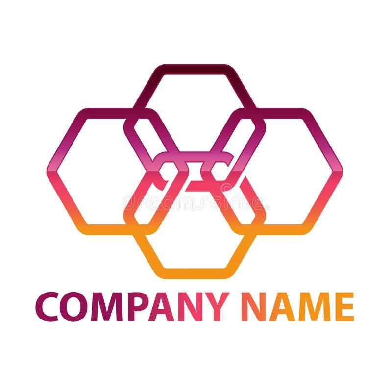 Hex?gono - ejemplo del concepto del logotipo del vector Logotipo poligonal geom?trico del hex?gono libre illustration