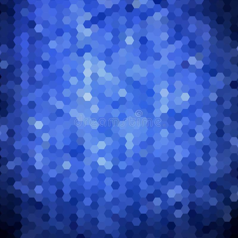 Hex?gonos azuis Disposi??o para anunciar Fundo abstrato do vetor Eps 10 ilustração royalty free
