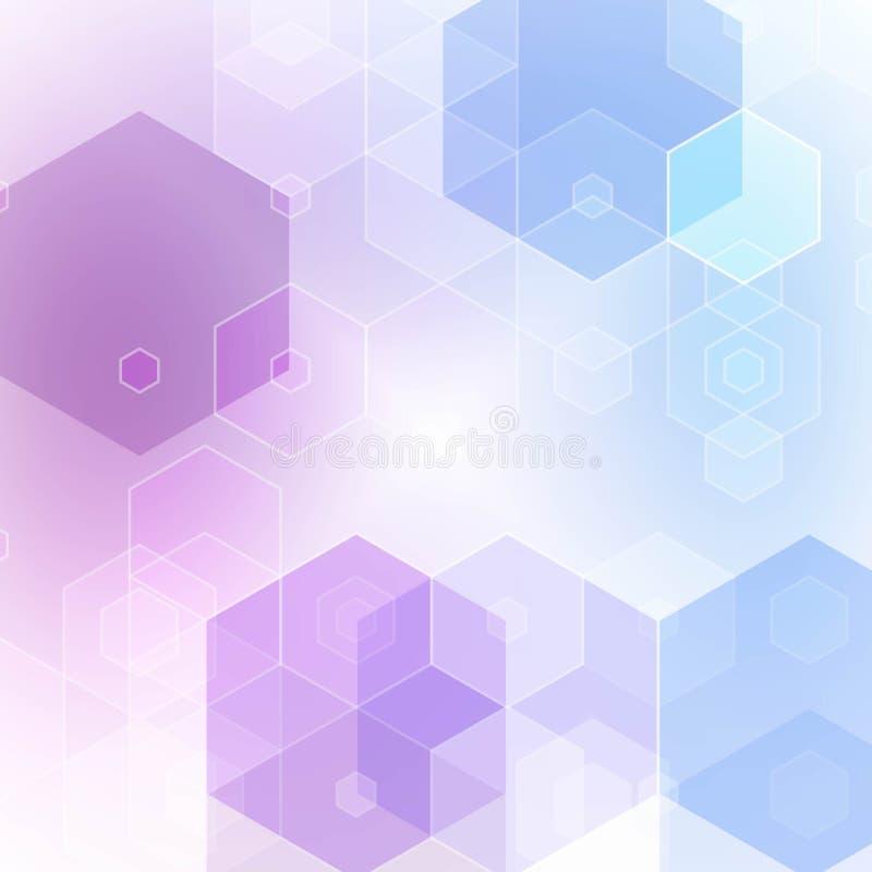Hex?gonos de la lila Estilo poligonal Vector abstracto EPS 10 libre illustration