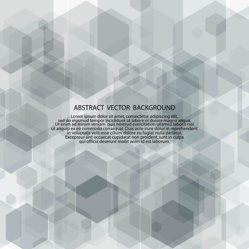 Hex?gonos grises Fondo abstracto del vector plantilla EPS 10 de la presentaci?n libre illustration
