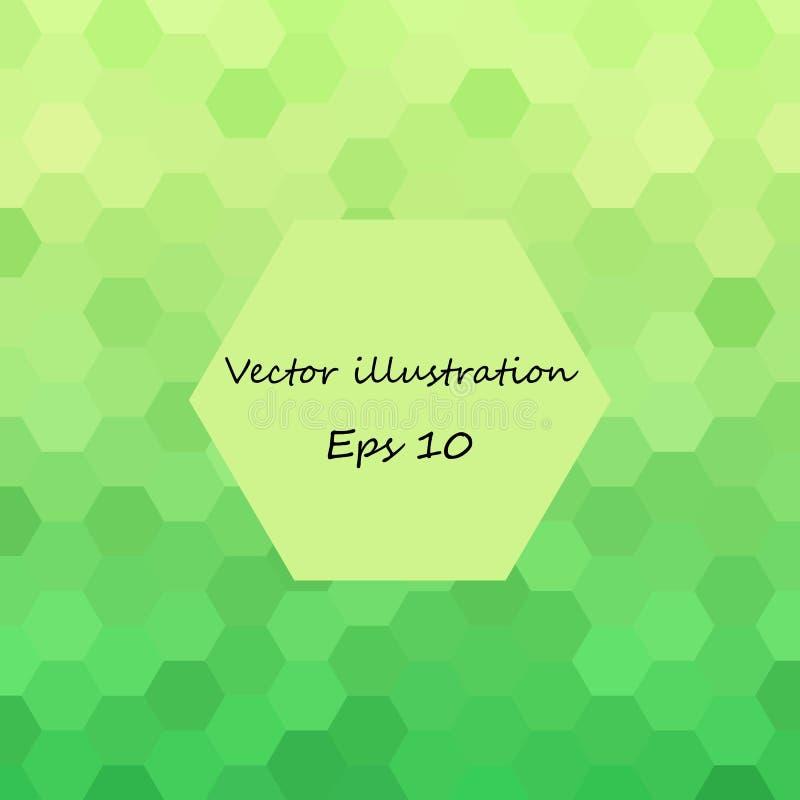 Hex?gonos verdes abstractos estilo poligonal del vector EPS 10 ilustración del vector