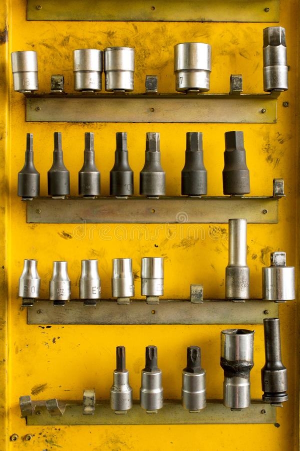 Free Hex Socket Set In The Auto Tools Box. Stock Photos - 60217303