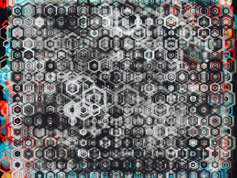 Hexa abstrakt bakgrund royaltyfri foto