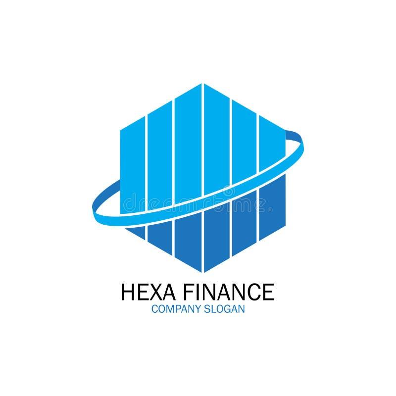 Hexa finanse dla firma logo royalty ilustracja