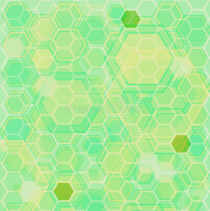 Hexa ground green royalty free illustration