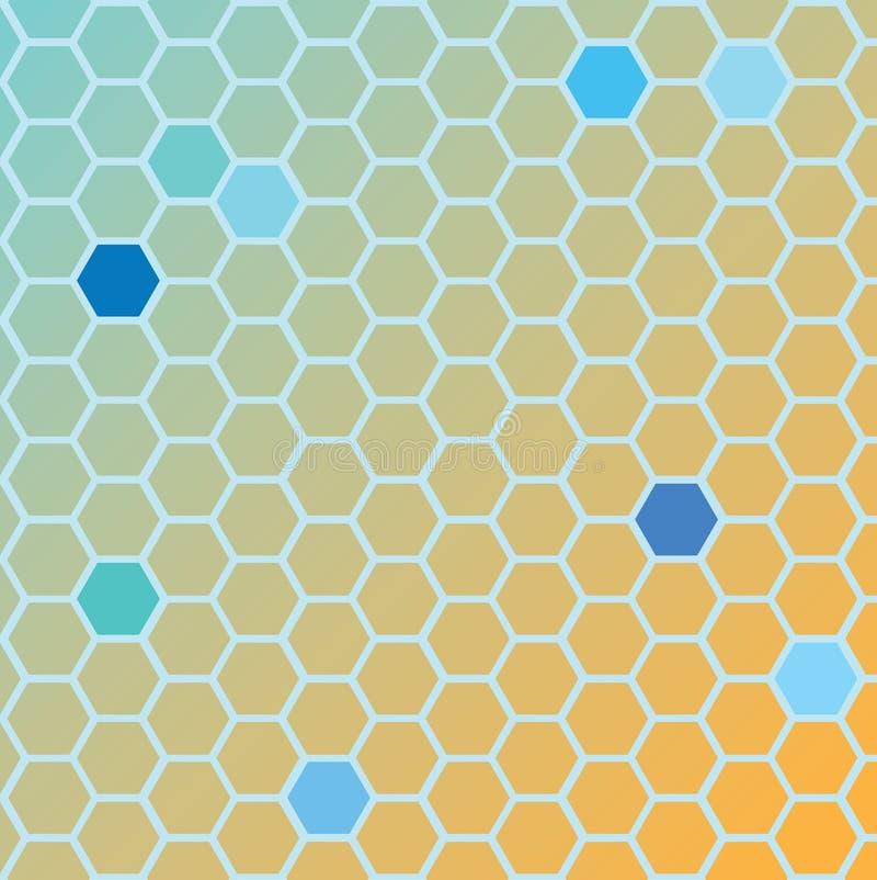 Hexa ground orange vector illustration
