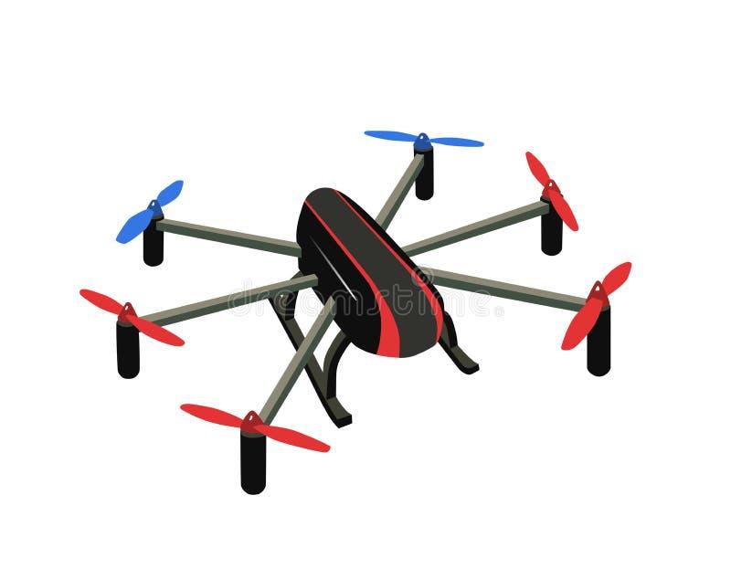 Hexacopter ilustração do vetor
