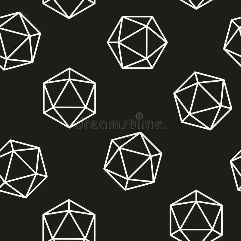 Hexagon άνευ ραφής πρότυπο διανυσματικό γεωμετρικό σχέδιο γραμμών σχεδίων απεικόνιση αποθεμάτων