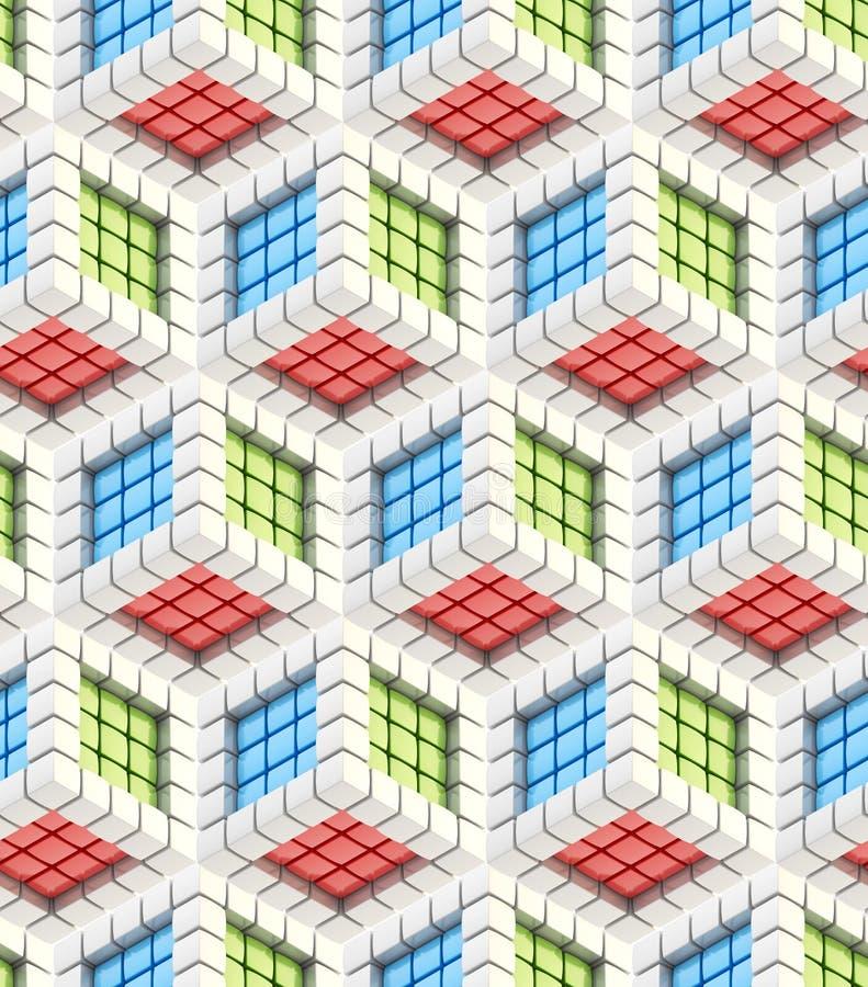 hexagon άνευ ραφής σύσταση κύβων ανασκόπησης ελεύθερη απεικόνιση δικαιώματος