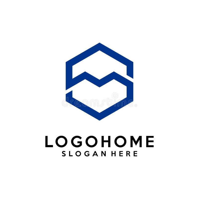 Hexagon διανυσματικό πρότυπο σχεδίου λογότυπων αρχιτεκτονικής γραμμάτων S, εικονίδιο, σύμβολο απεικόνιση αποθεμάτων