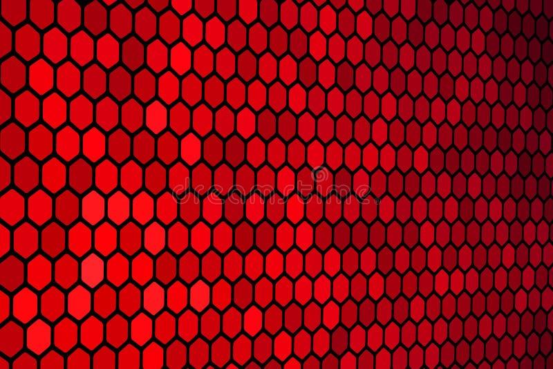 hexagon κόκκινο προτύπων απεικόνιση αποθεμάτων