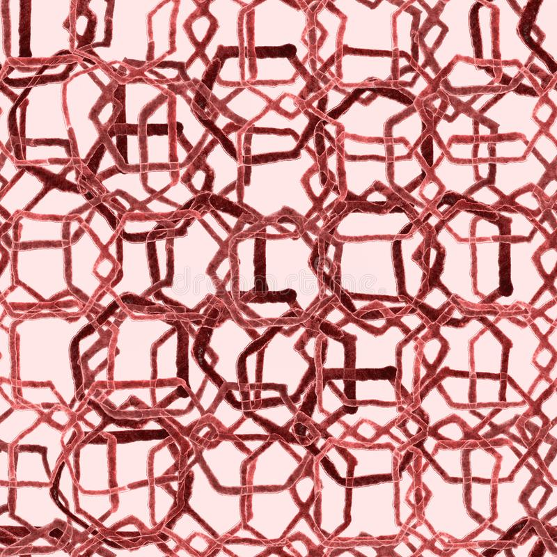 Hexagon σχέδιο Γεωμετρική άνευ ραφής ατελείωτη τυπωμένη ύλη watercolor ελεύθερη απεικόνιση δικαιώματος