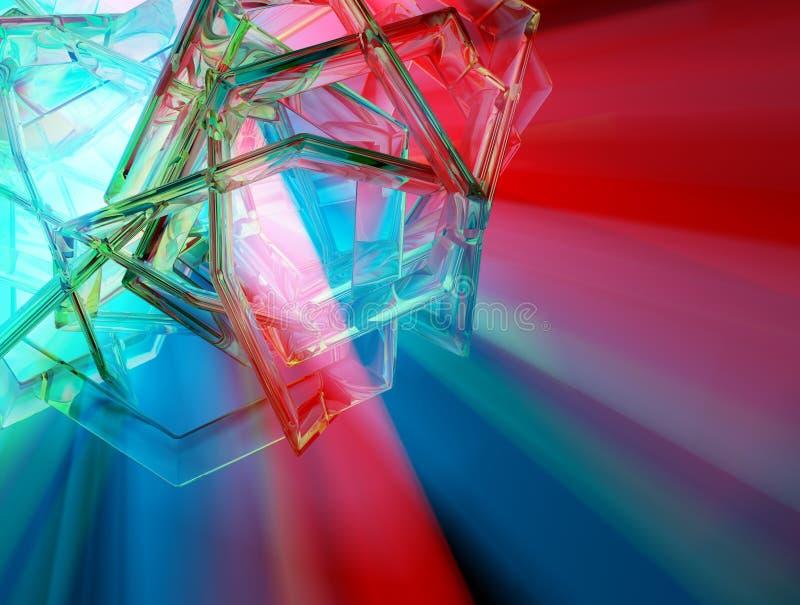 hexagon φως γυαλιού διανυσματική απεικόνιση