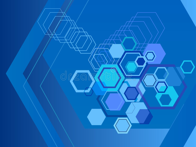 Hexagon abstract backgrounds stock illustration