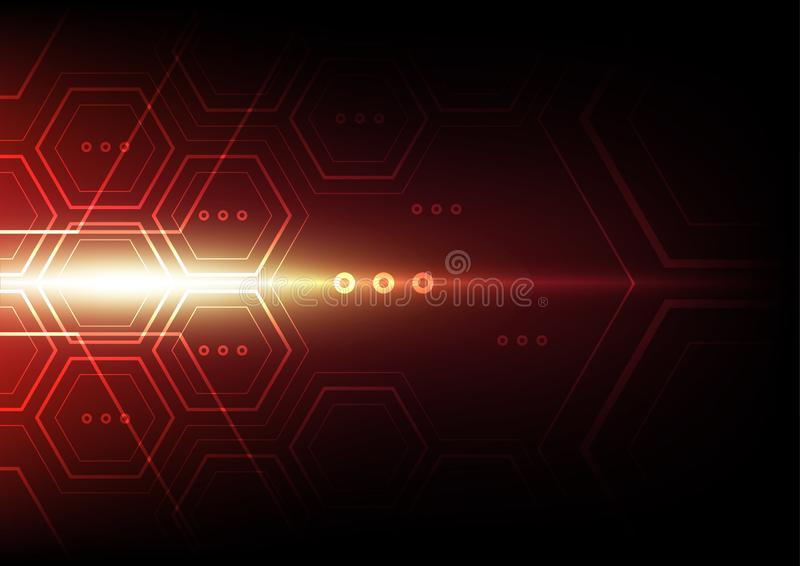 Hexagon abstract technology background, digital communication network computer stock images