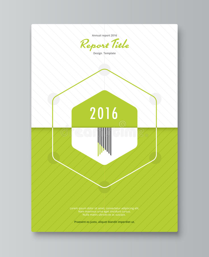 hexagon annual report cover design book brochure template stock
