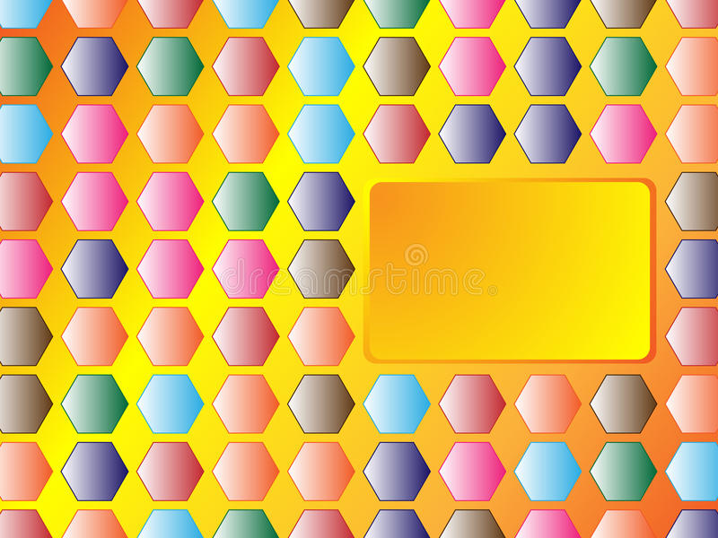 Download Hexagon Background With Banner Stock Vector - Image: 10426562