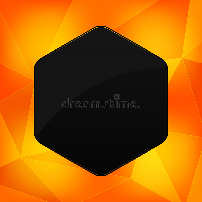 Hexagon Banner With Abstract Backrounds Stock Photos