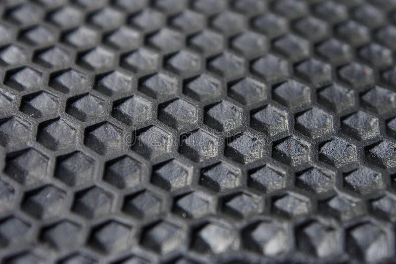 Hexagon-Beschaffenheit des schwarzen Gummis lizenzfreies stockbild