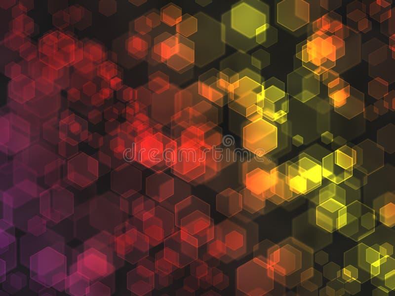 Download Hexagon bokeh background. stock illustration. Image of hexagon - 25073469