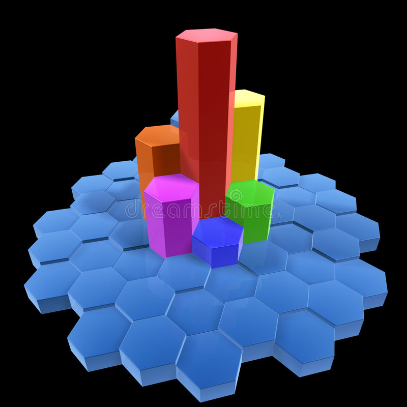 Hexagon building vector illustration