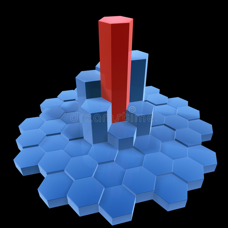 Hexagon building stock illustration