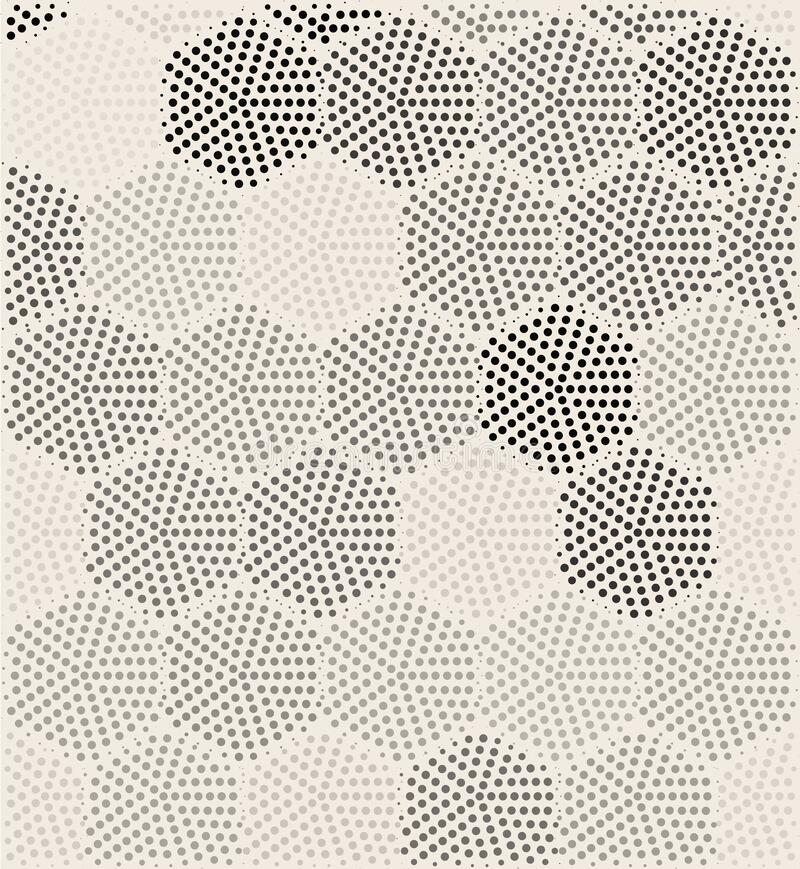 Free Hexagon Geometric Pattern Vector Seamless Halftone Design. Dot Hexagon Texture Seamless Royalty Free Stock Images - 215313179
