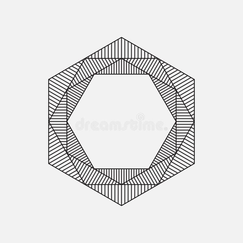 Hexagon, geometrisch element royalty-vrije illustratie