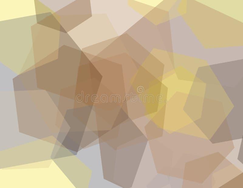Hexagon Geometrisch Patroon stock illustratie