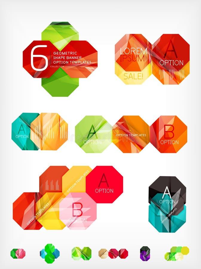 Hexagon geometrische gevormde Webdozen stock illustratie