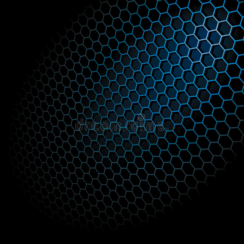Download Hexagon Grid stock vector. Image of illustration, gray - 16716872