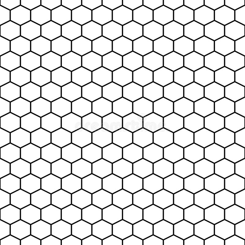 Hexagon Grid Cells Vector Seamless Pattern. Stock Vector ...