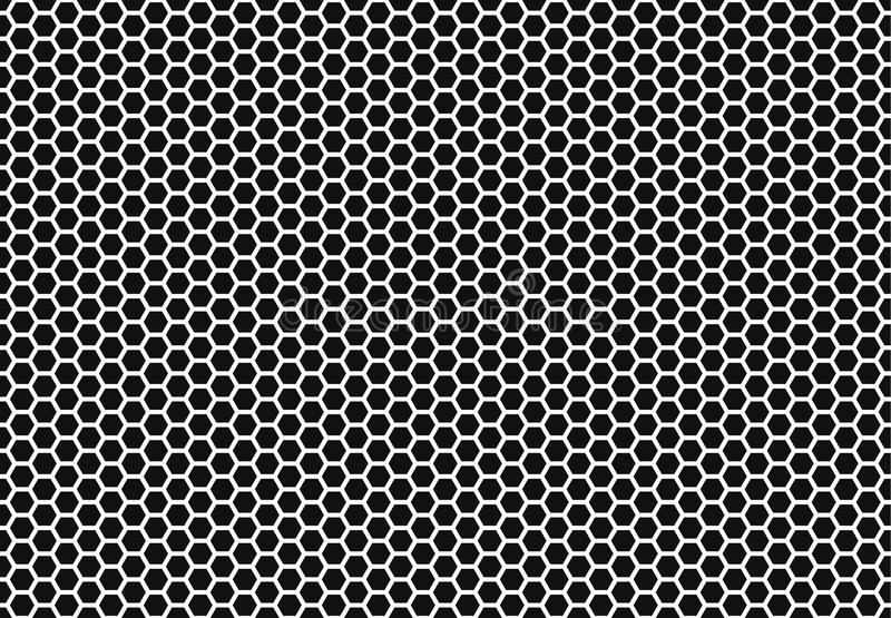 Hexagon honeycomb seamless background. Simple seamless pattern of bees` honeycomb cells. Illustration. Vector. Geometric royalty free illustration