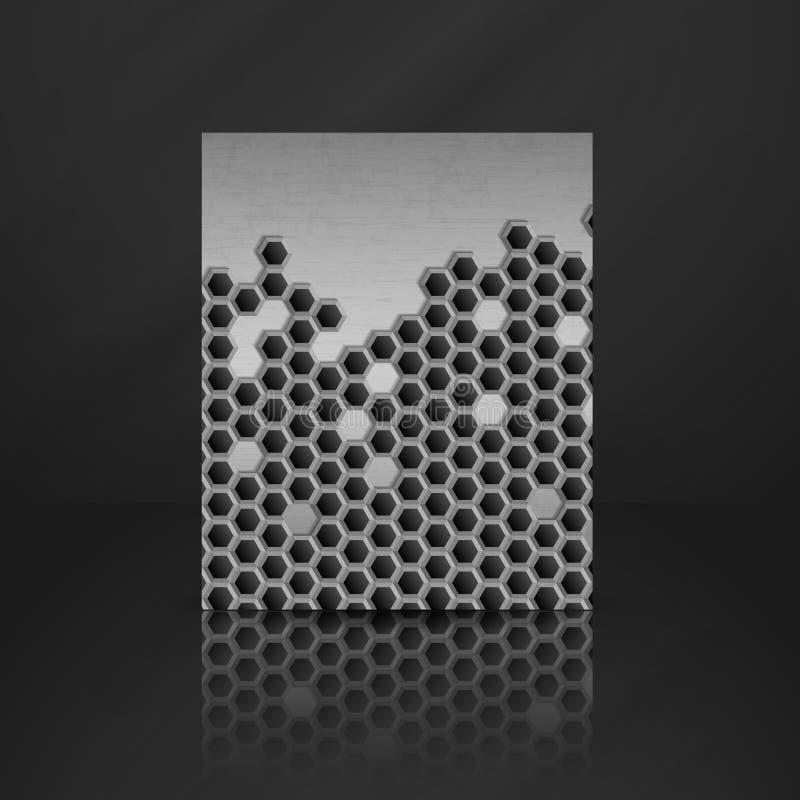 Hexagon Metaalbanner. vector illustratie