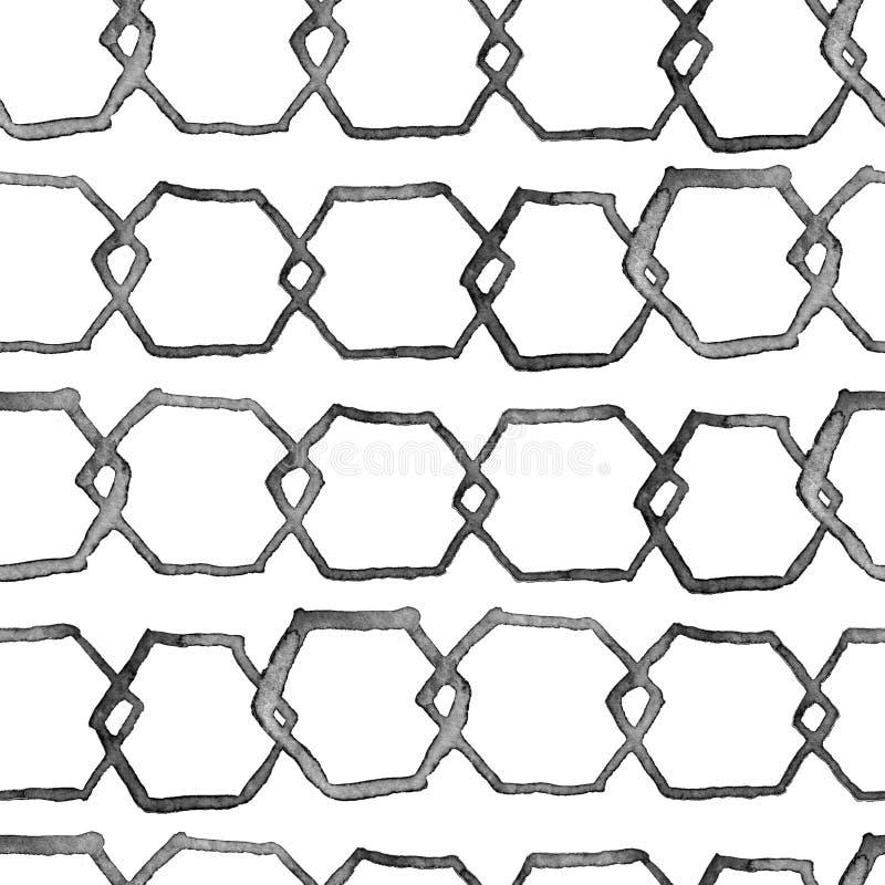 Hexagon minimaal patroon stock illustratie