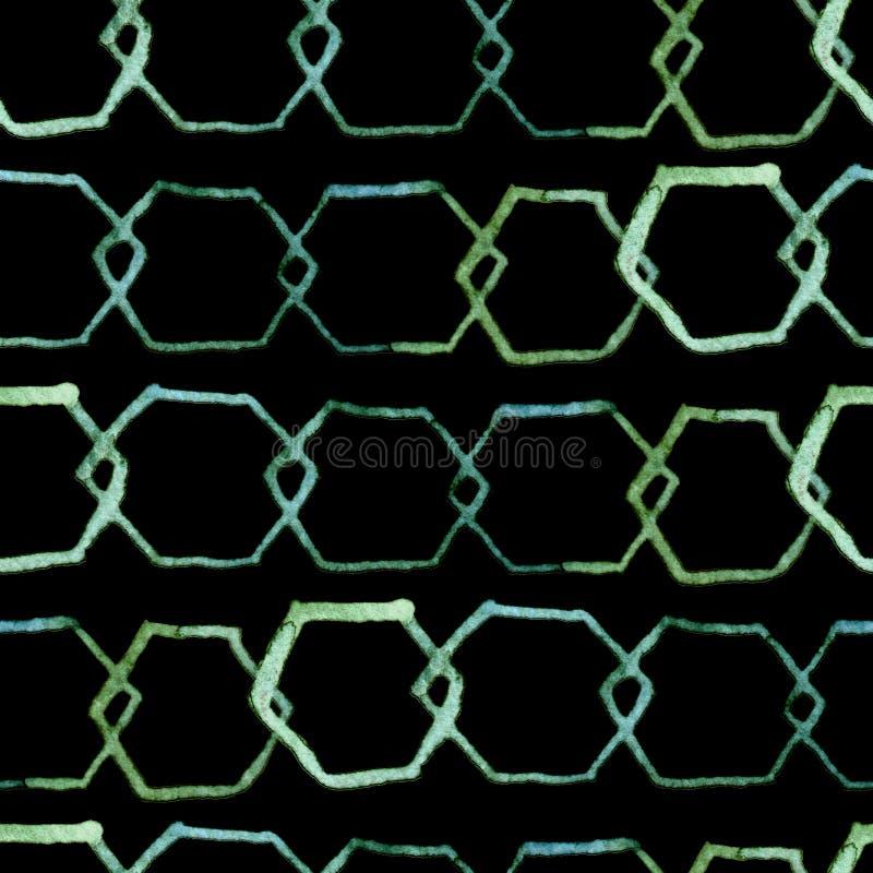 Hexagon minimaal patroon vector illustratie