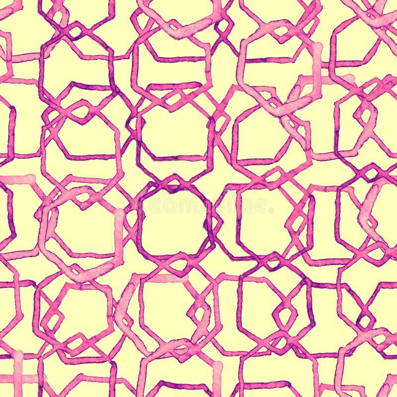 Hexagon minimal pattern. royalty free illustration
