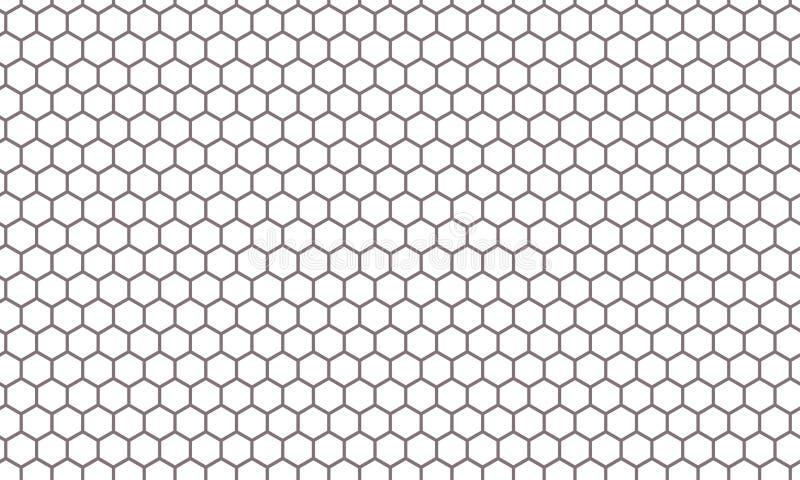 Hexagon Net Honeycomb Pattern Vector Background Stock ...