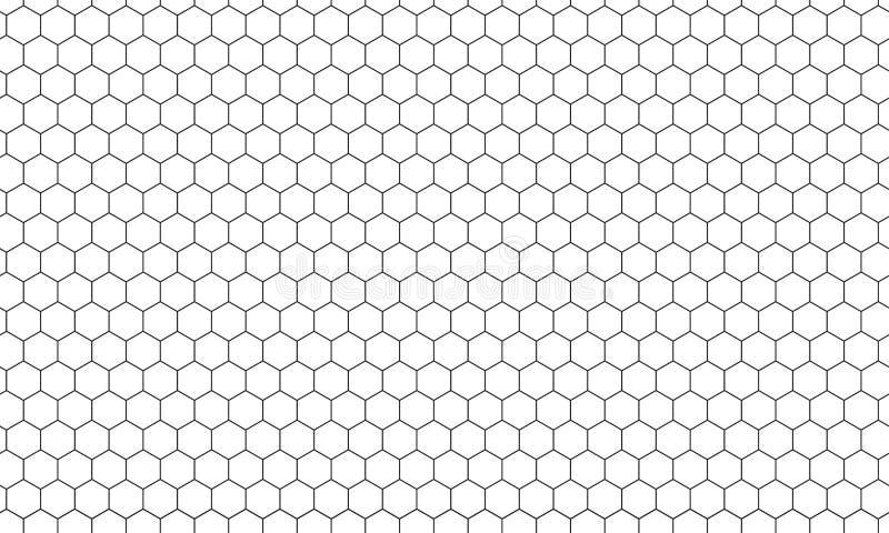 Hexagon netto vectorachtergrond van het honingraatpatroon royalty-vrije illustratie