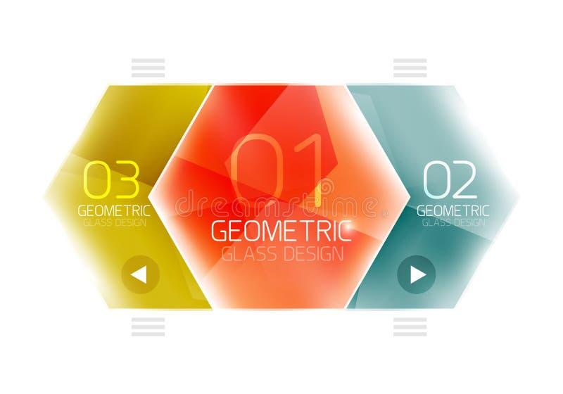 Hexagon option infographics. Vector universal design template vector illustration