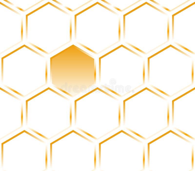 Hexagon oranje textuur. Patroon. royalty-vrije stock afbeeldingen