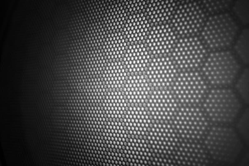 Hexagon pattern black gradients light texture background.  stock images