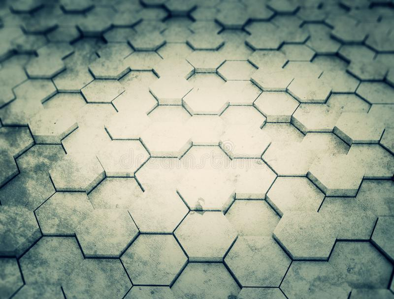 Hexagon pattern 3d background royalty free stock photo