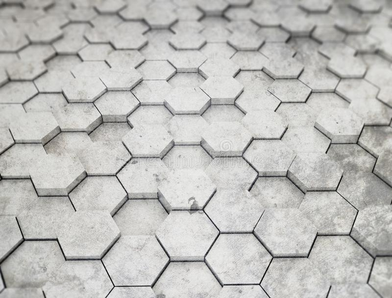 Hexagon pattern 3d background royalty free stock photography
