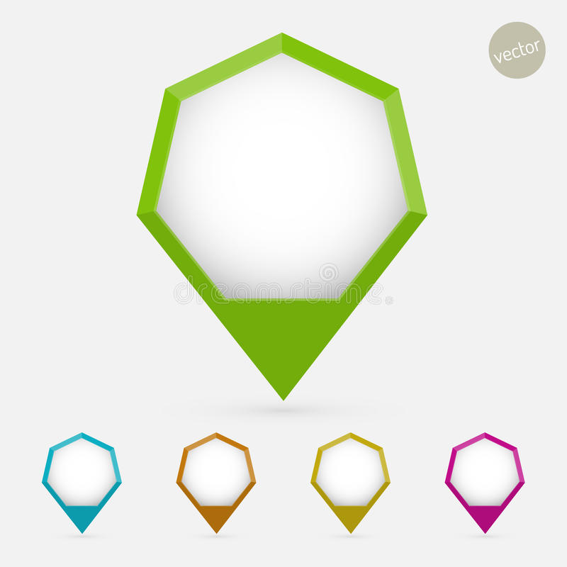 Hexagon pointer royalty free illustration