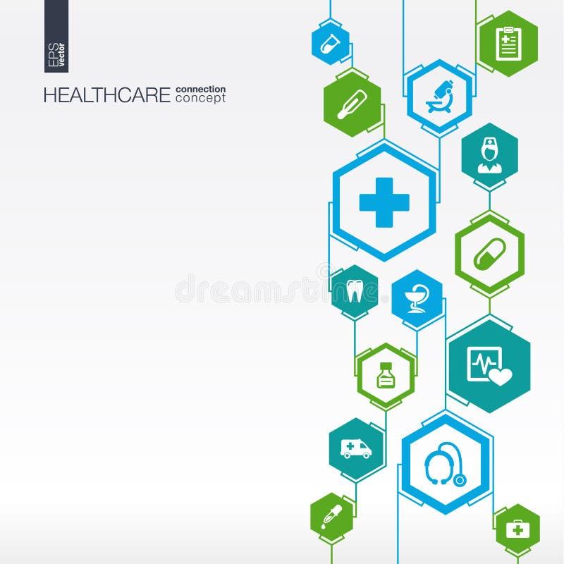 Hexagon samenvatting De achtergrond van de geneeskunde stock illustratie
